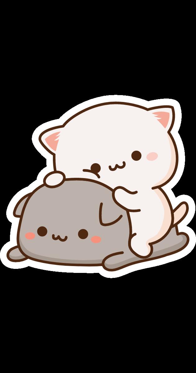 Cute Mochi Mochi Friends Cats Sticker