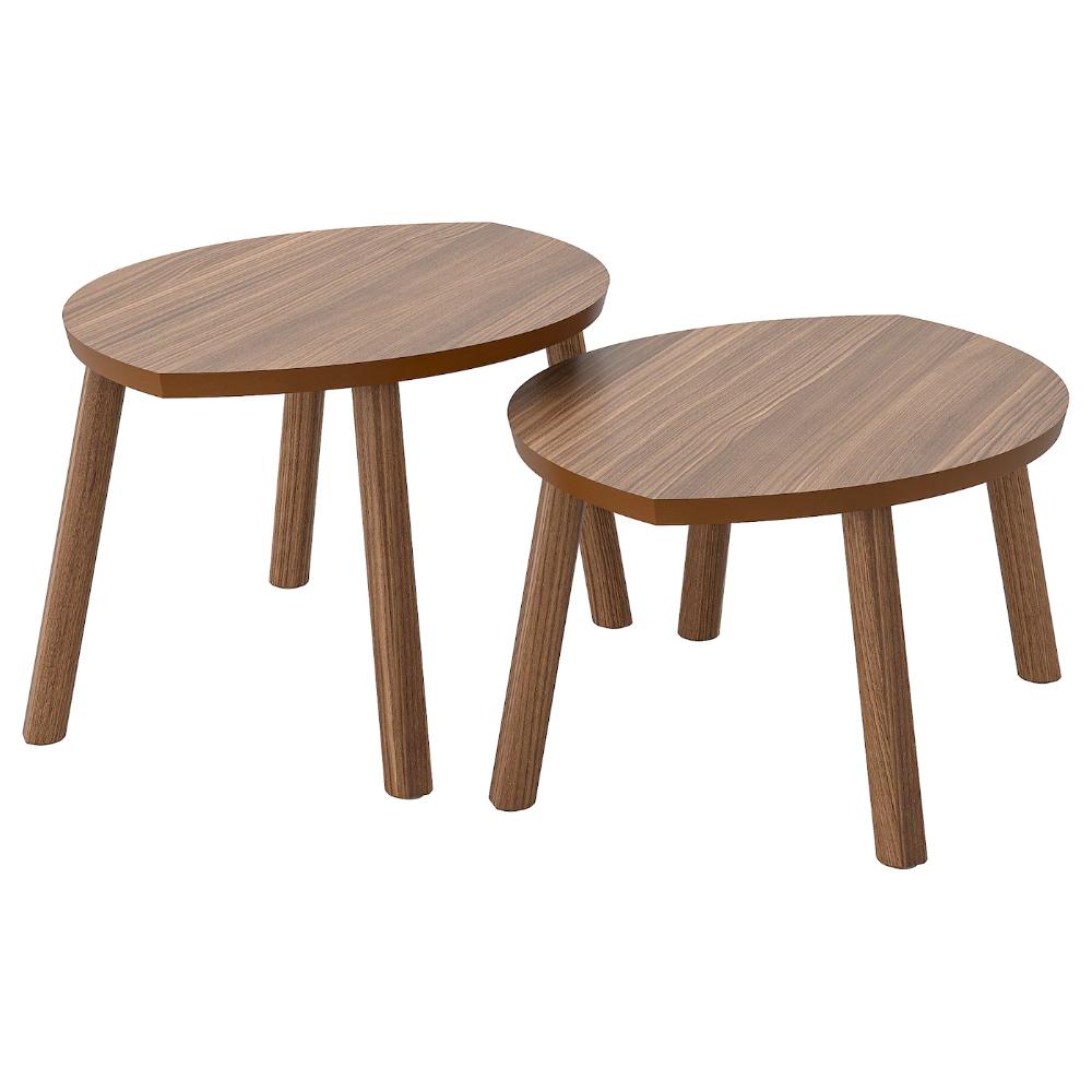 Stockholm Nest Of Tables Set Of 14 Walnut Veneer [ 1000 x 1000 Pixel ]