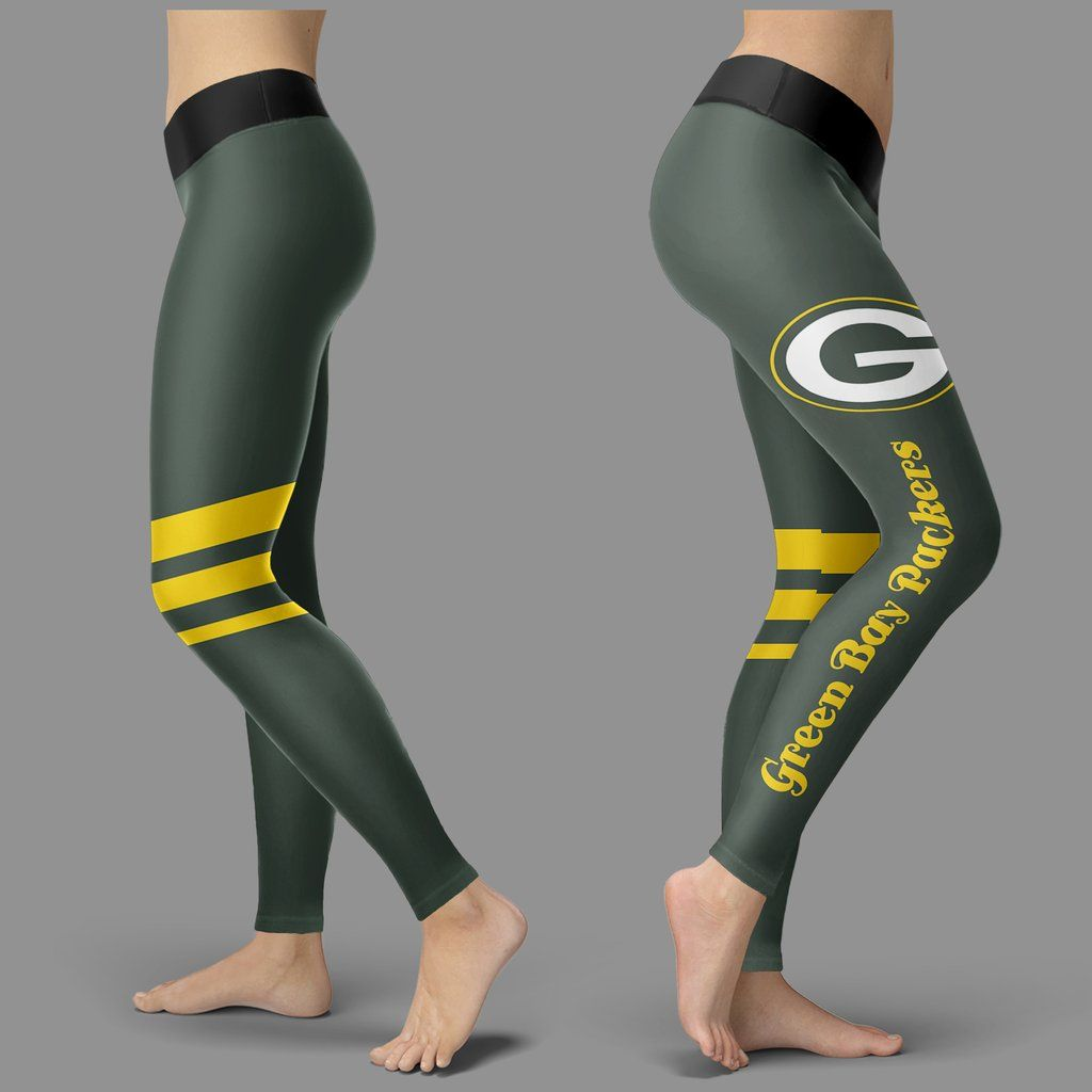 dbc2151e91852 Through Great Logo Spead Body Striped Circle Green Bay Packers Legging – Best  Funny Store