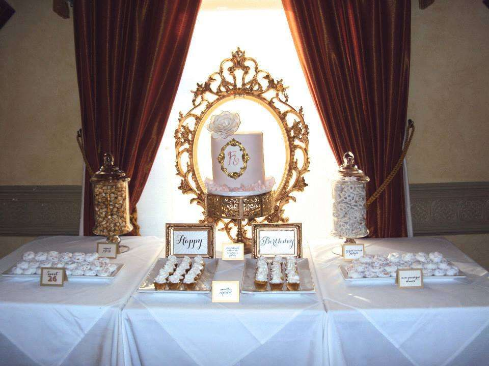 Gold and White, elegant, pretty, and chic! Birthday Party ...