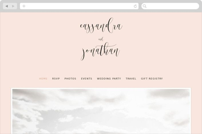 Tying The Knot Customizable Wedding Websites In Pink Or White By Jair In 2020 Tie The Knot Wedding Wedding Website Tie The Knots