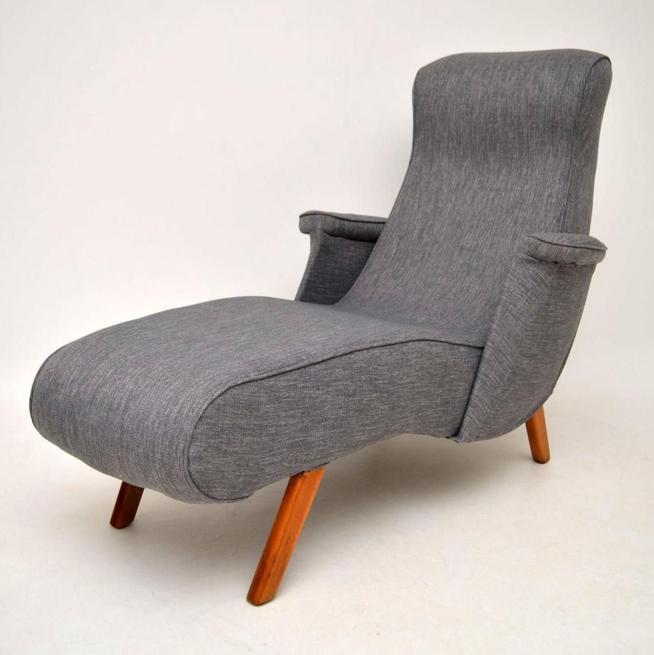 Retro Chaise Lounge Recliner Armchair Vintage 1950s