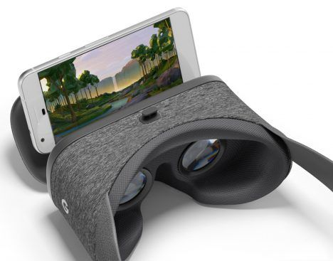 Google has upgraded its thrifty cardboard VR headset with a fabric version named Daydream View, which is designed to work with the company's first own-brand smartphone.