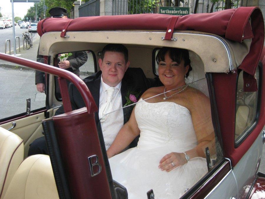 Beauford Wedding Car Hire Dublin Registry Office Travel Transportation Destination Weddingcar Limoservi Vintage Car Wedding Wedding Car Wedding Car Hire
