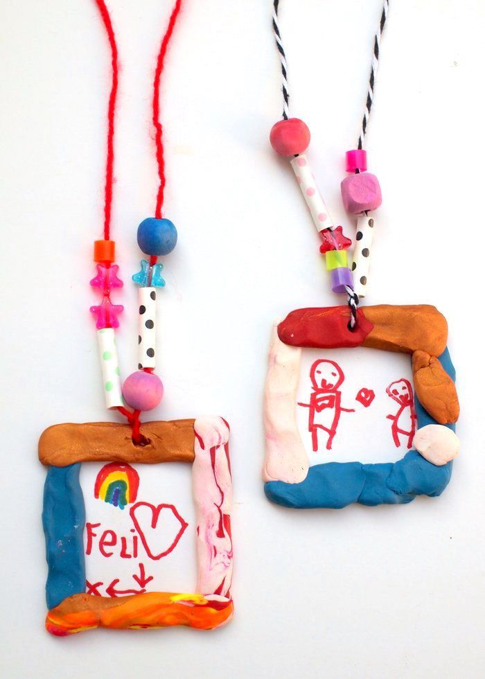 Clay Crafts for Kids: Portrait Necklaces – DIY Candy