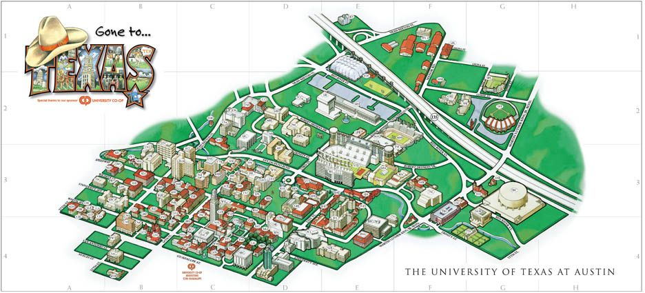 Map Of University Of Texas Austin University of Texas at Austin Campus Map | University of Texas at