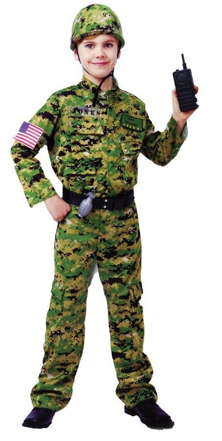 GENERIC ARMY INFANTRY MILITARY HALLOWEEN COSTUME FOR BOYS ...
