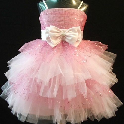 Pink Sequin Spaghetti Formal Toddler Little Girls Pageant Dress ...