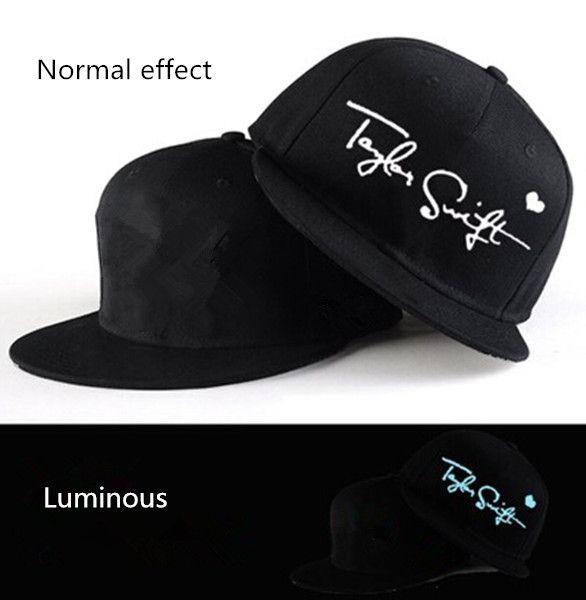 Luminous Taylor Swift baseball caps for men black hip hop caps Mens Summer  Hats cde197c43d8