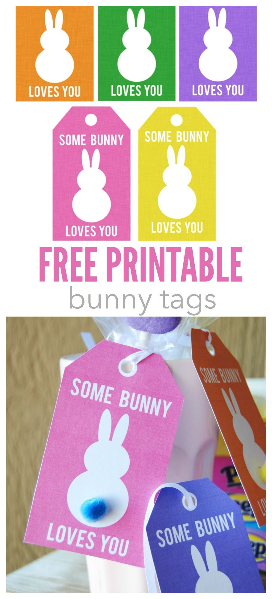 Some bunny loves you tags free printable bunny tags the perfect touch for all your easter treats easter negle Gallery