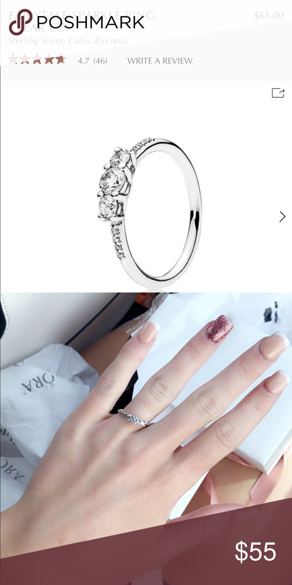 a57d7a2c1 Authentic Pandora Fairytale Sparkle Ring Clear CZ Pandora Fairytale Sparkle  Ring Clear CZ, Sterling Silver