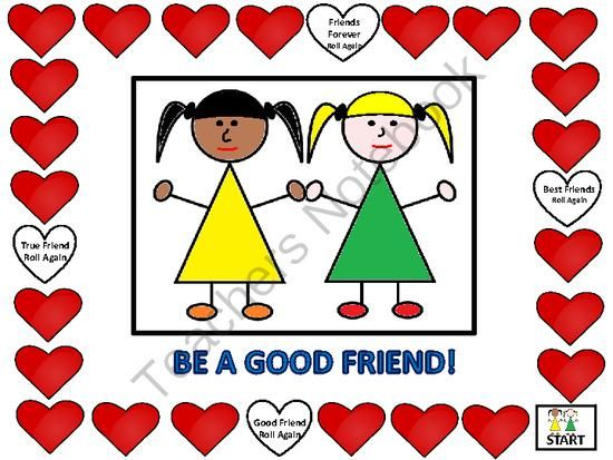 Friendship Skills Board Game from FunTeach on TeachersNotebook.com -  (8 pages)  - This is a fun game to help students learn actions that help them make friends.