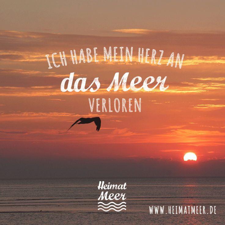 Für diejenigen, die ihr Herz für das Meer verloren haben: Heimatmeer - Klamotte & Mee (...   - Sprüche & Zitate vom Meer -