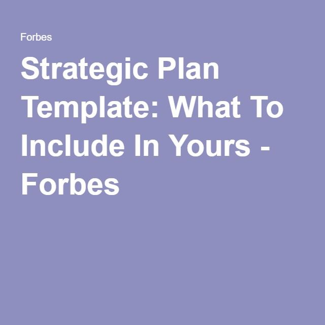 Strategic Plan Template What To Include In Yours  Template