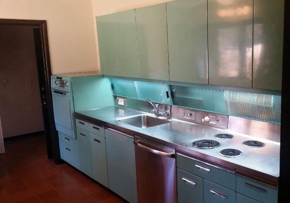 1955 GE Wonder Kitchen Mid Century Modern Vintage Steel ...