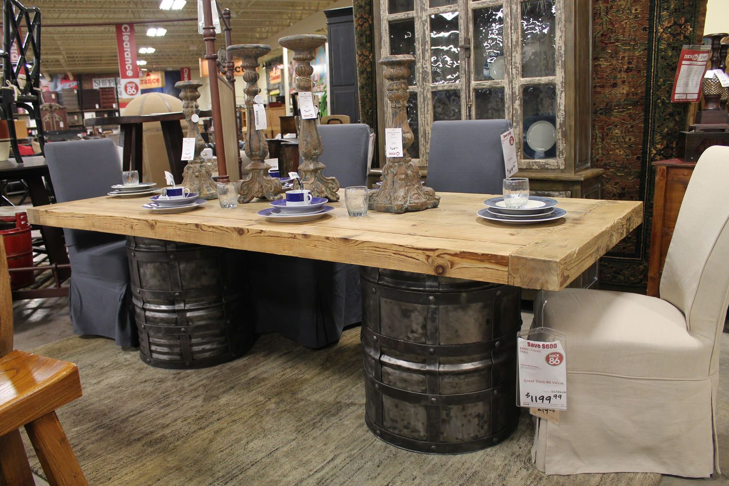 Barrel Dining Table Dock86 Spend A Good Deal Less On Furniture In Minneapolis And St Paul Mn Area