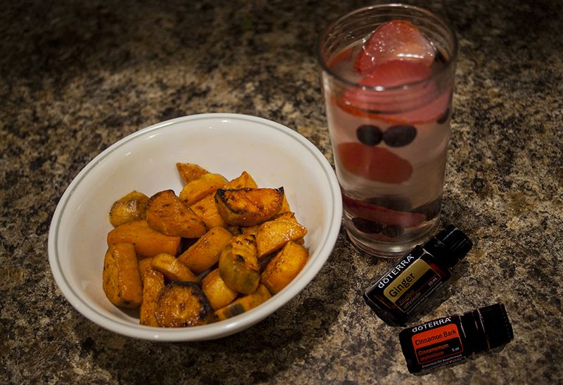 Glazed Spicy Sweet Potatoes – Natural Oil Mom  #Cinnamon #CinnamonBark #ginger #healthyrecipe #Potatoes #Spicy #Sweet #essentialoils #diffuser #doTERRA #pureoils #naturalhealth #naturaloilmom