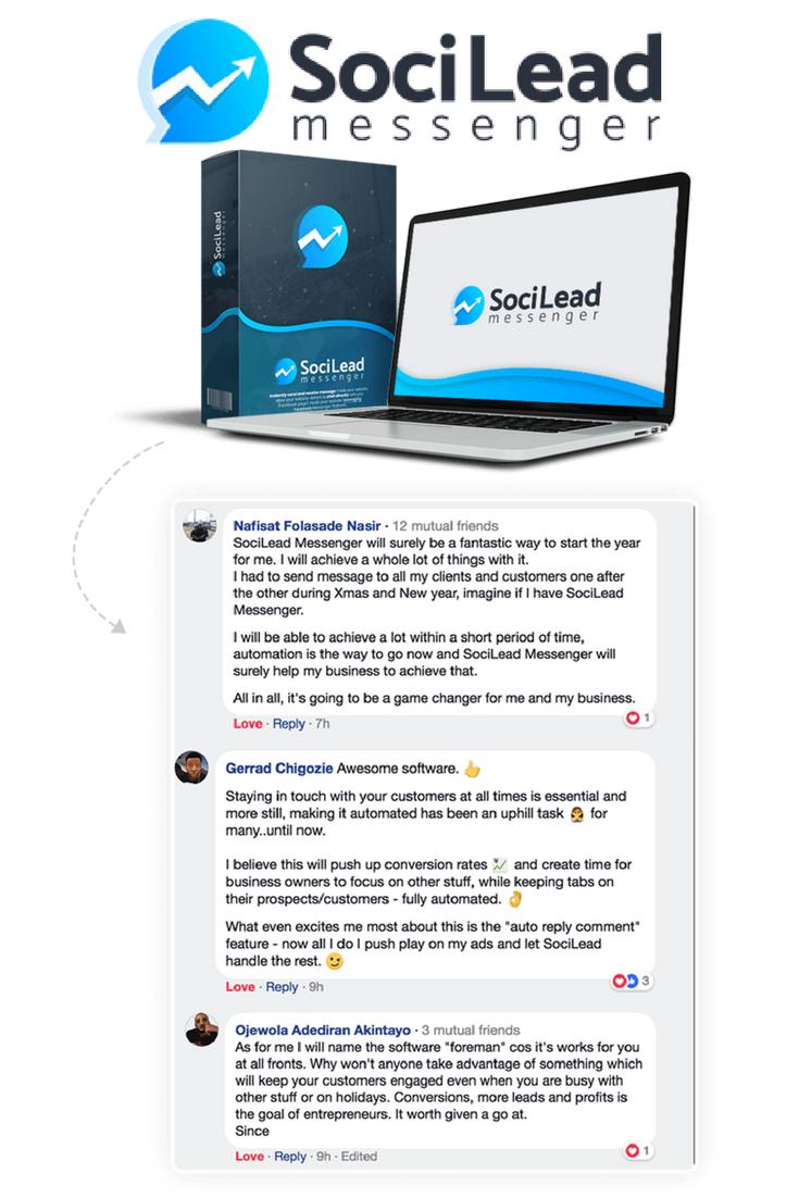 SociLead Messenger Facebook Chat App by Daniel Adetunji