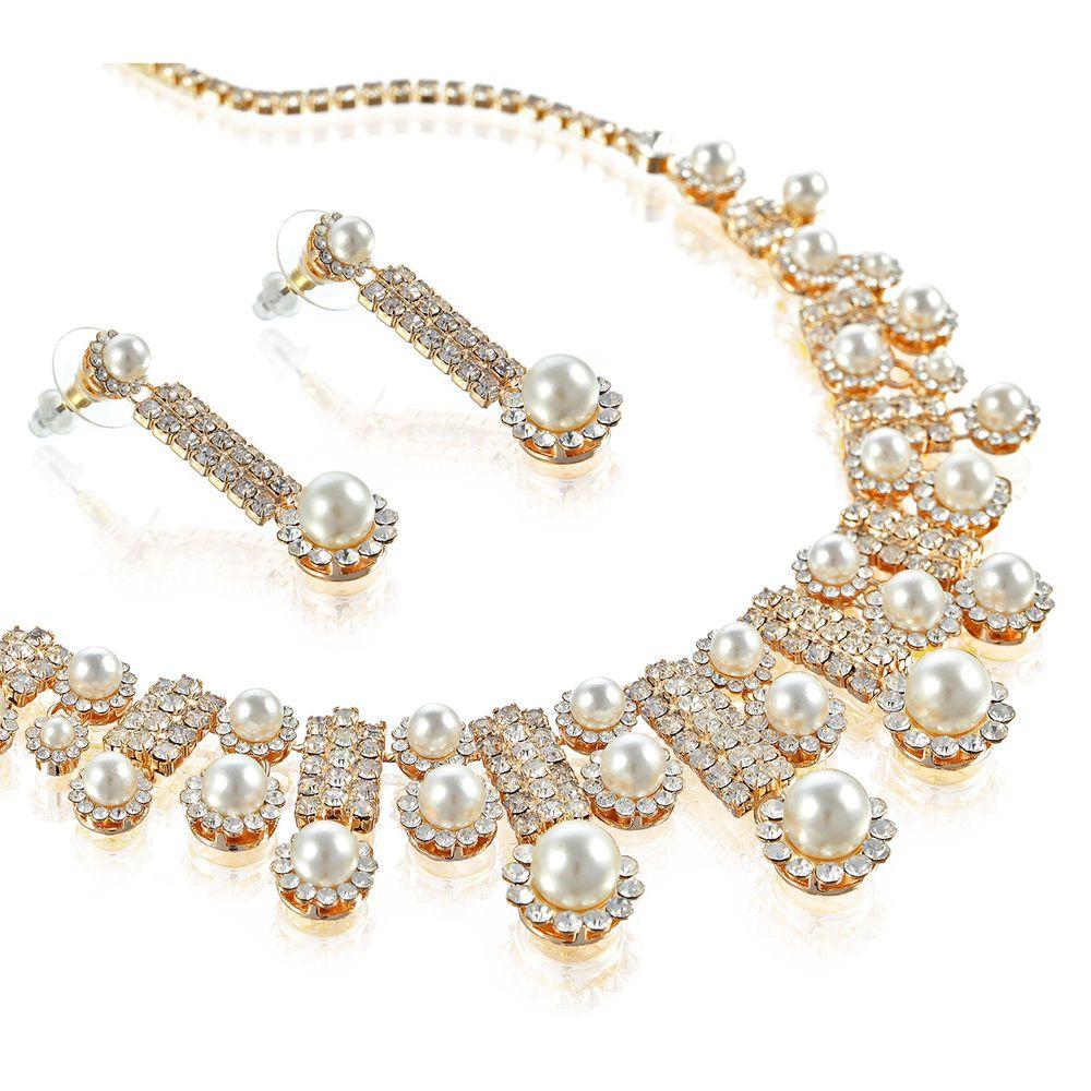 Janeo Indian Bridal Wedding Jewellery Set Swarovski Elements