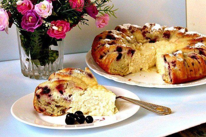 Нежный Пирог с творожной начинкой | Рецепты блюд с сыром ...