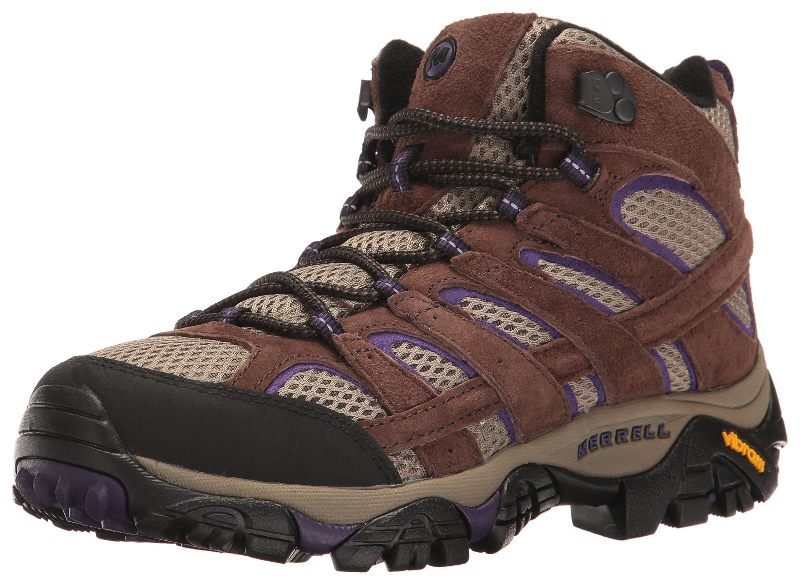 Merrell Women's Moab 2 Vent Mid Hiking Boot, Bracken/Purple, 5 W US