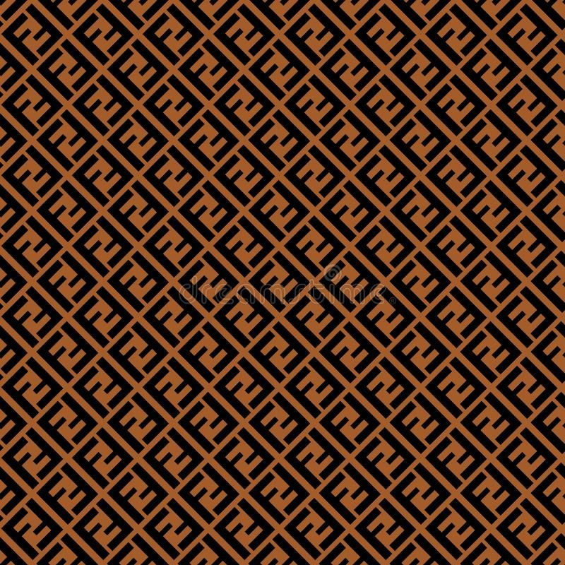 Seamless Pattern With Fendi Logo Design For