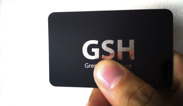 Engraved metalbusinesscard is metal card that provides distinct business cards reheart Image collections