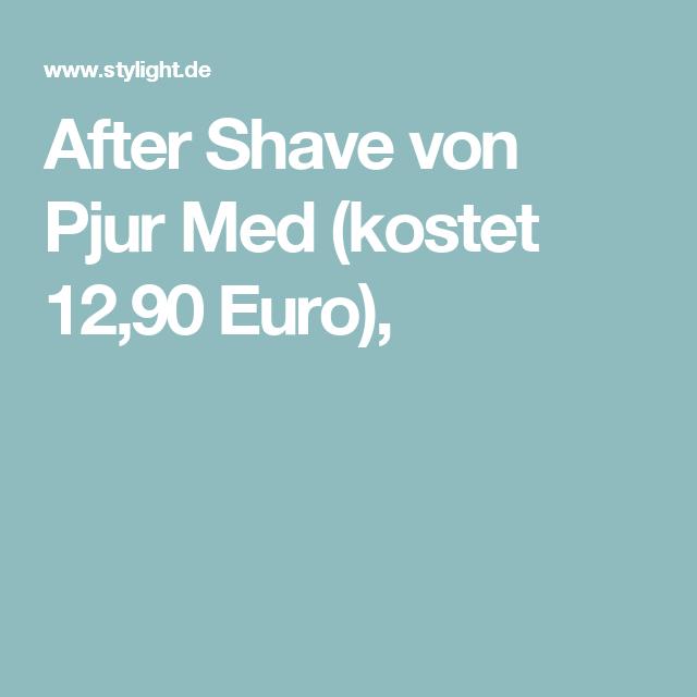 After Shave von Pjur Med (kostet 12,90Euro),