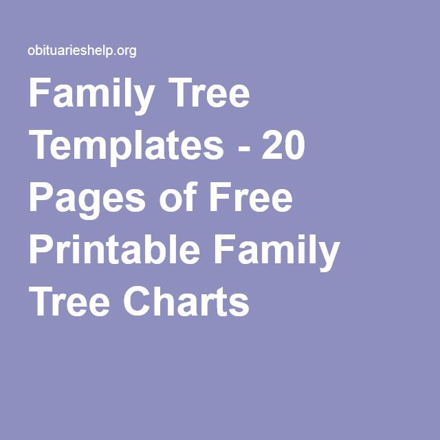 Family Tree Templates - 20 Pages of Free Printable Family Tree ...