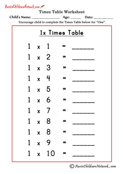 Multiplication Times Tables Worksheets Aussie Childcare Network Multiplication Times Tables Multiplication Worksheets Times Tables