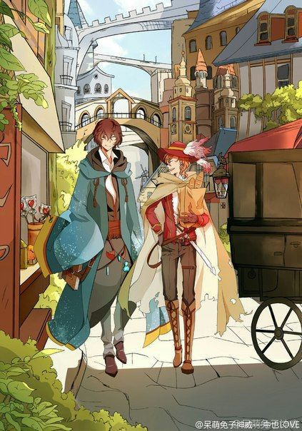 wow this is pretty dazai and chuuya in middle age au bungou
