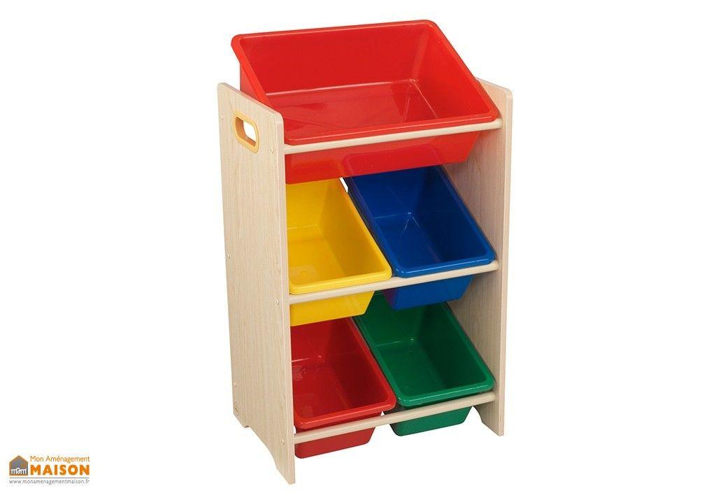 Meuble De Rangement En Bois Pour Enfant Avec Bacs En Plastique Colore Rangement Bois Bac De Rangement Meuble Rangement