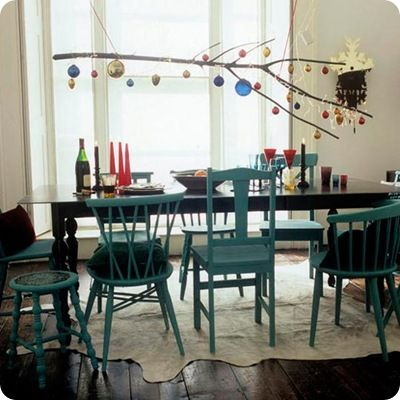 christmas with branches! New Home Pinterest Dining, Room and
