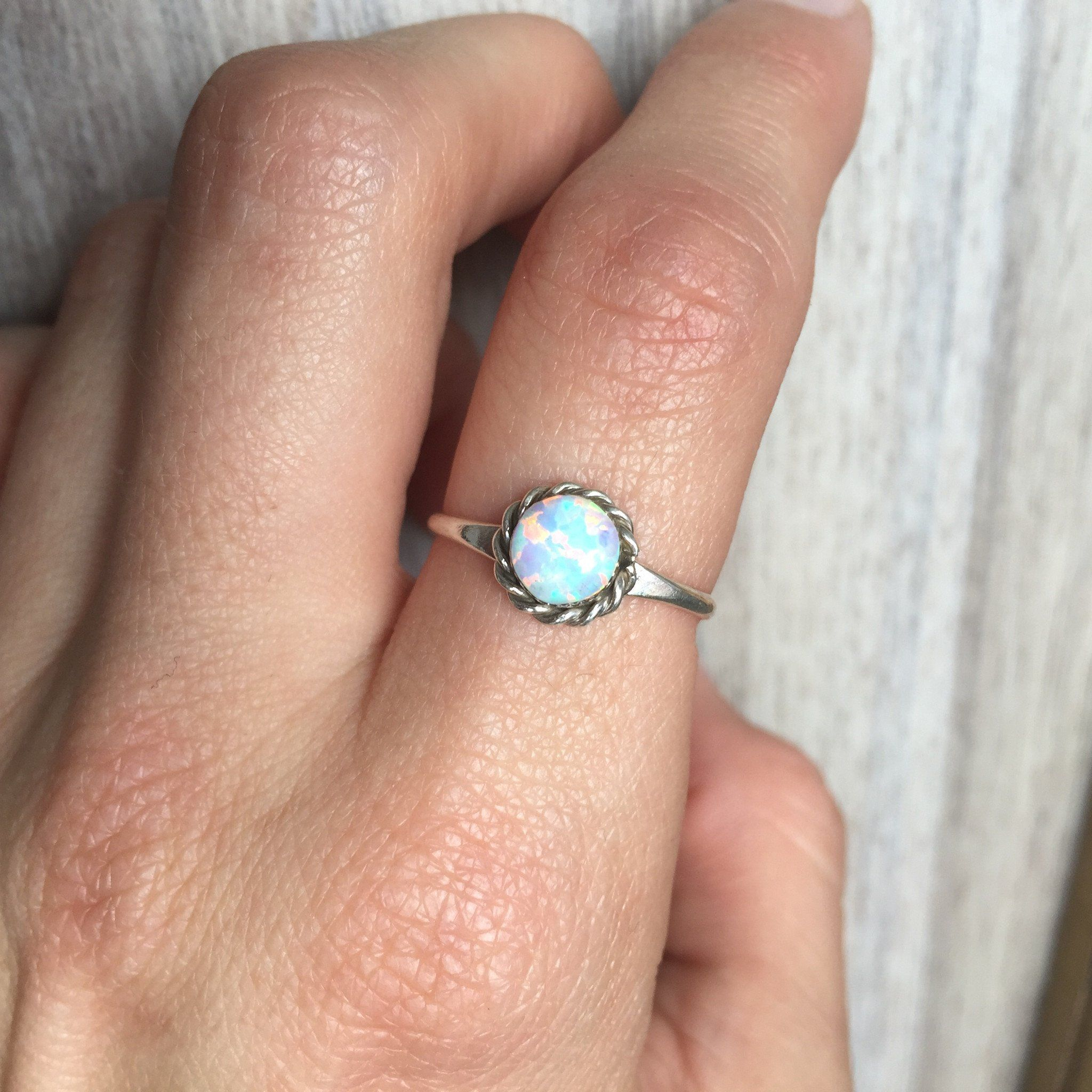 Opal Zuni Ring White bohemian gypsy festival jewellery indie and