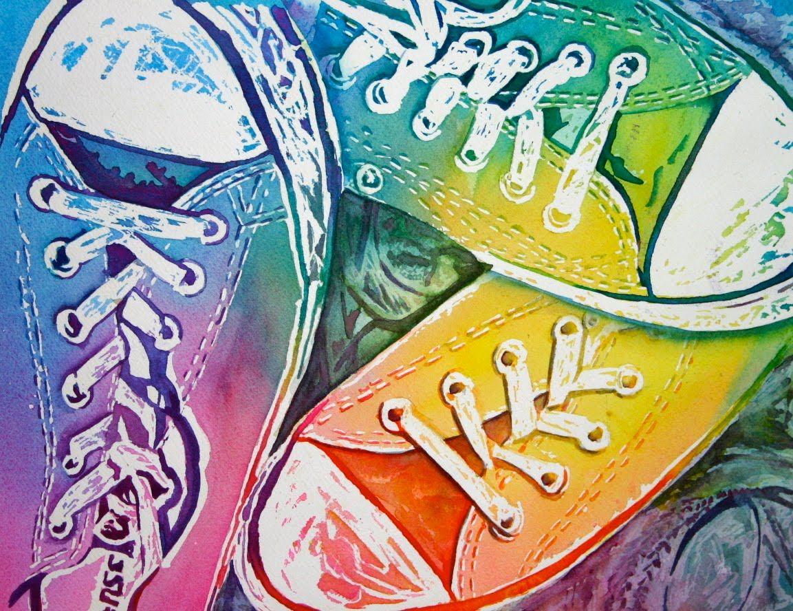 Colorful Converse | Regenboog, Neon