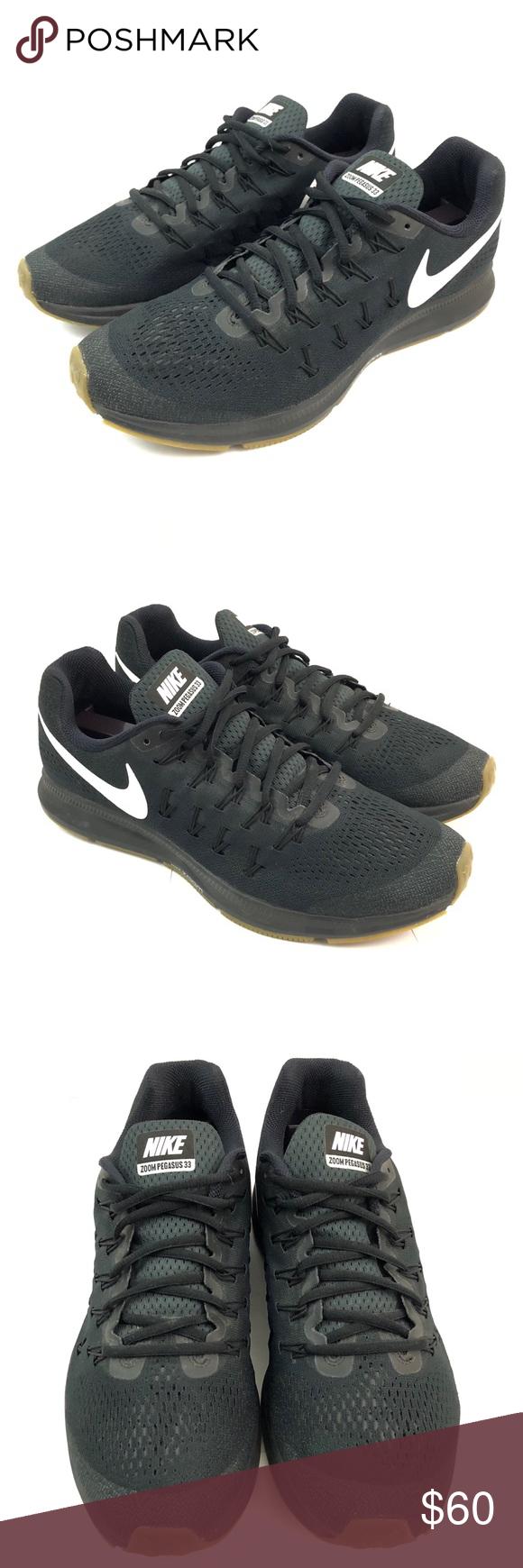 14aa6ae813ac3 Nike Shoes Zoom Pegasus 33 NikeiD Black Mens US 9 Nike Mens Shoes Zoom  Pegasus 33