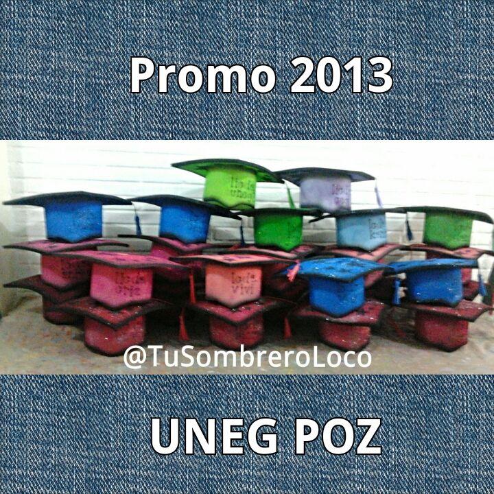 Bienvenidos los #graduandos #uneg #poz a @TuSombreroLoco que disfruten sus #birretes rumberos
