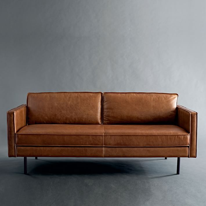 Axel 89 Sofa Aspen Leather Aegean Best Leather Sofa Leather