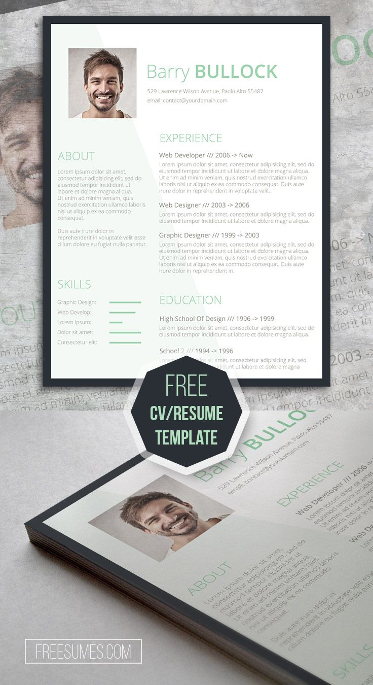 Free Template For Resume Basic And Light Freesumes Resume Templates Downloadable Resume Template Resume Template Word