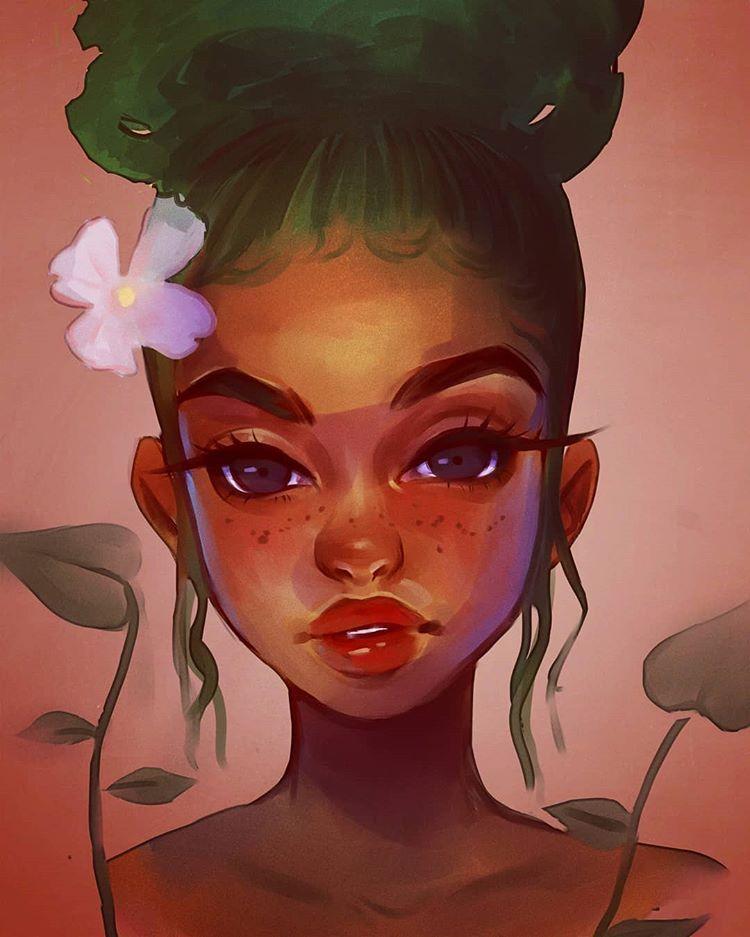 "Photo of AALIYA JULY 🦄👽🌱 on Instagram: ""ntrlgrl  #art #arte #dibujos #illustration #painting #digitalart #digitalpainting #artoftheday #artistsoninstagram #igart #igartist…"""