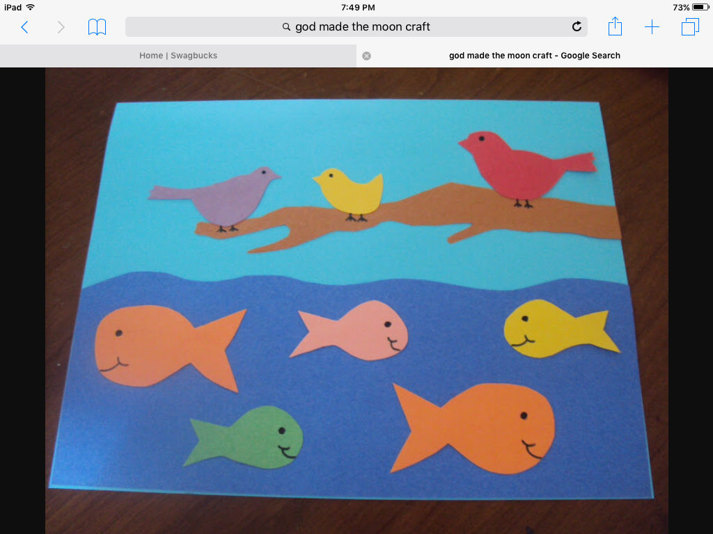 creation day five god made the fish and the birds awana pinterest