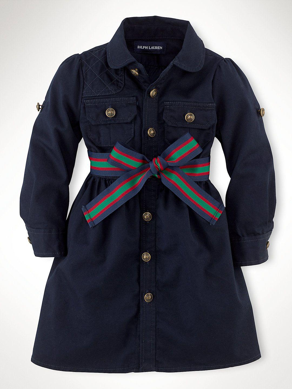 Twill Cargo Shirtdress - Dresses & Rompers  Infant Girl (9M–24M) - RalphLauren.com