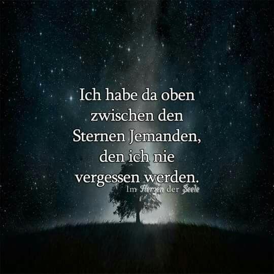 Ich Habe Da Oben Zwischen Den Sternen Jemanden Den Ich Nie Vergessen Werde Wahre Worte Spruche Zitate Spruche