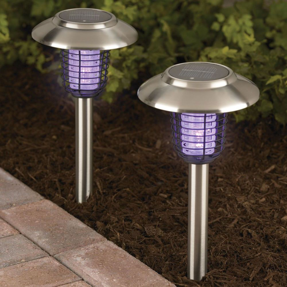Porch Light Bug Zapper: The Solar Insect Zappers - Hammacher Schlemmer
