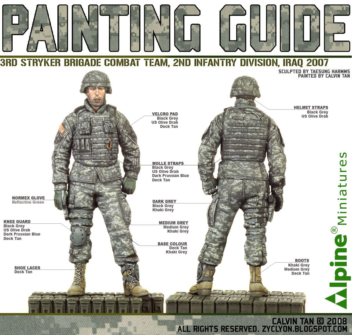Calvin Tan's how to for 3rd Stryker Military paint
