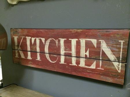 Large Vintage Red Wooden Kitchen Sign Wooden Kitchen Signs Vintage Kitchen Signs Kitchen Signs