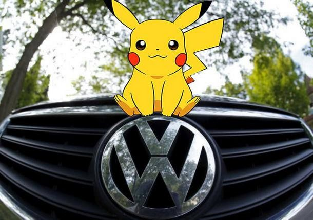 Cute pic from Herman Cook VW. :)  PokemonGo on VW
