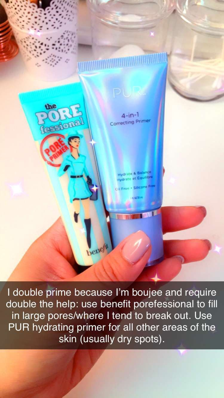 Double priming benefit porefessional & PUR 4in1