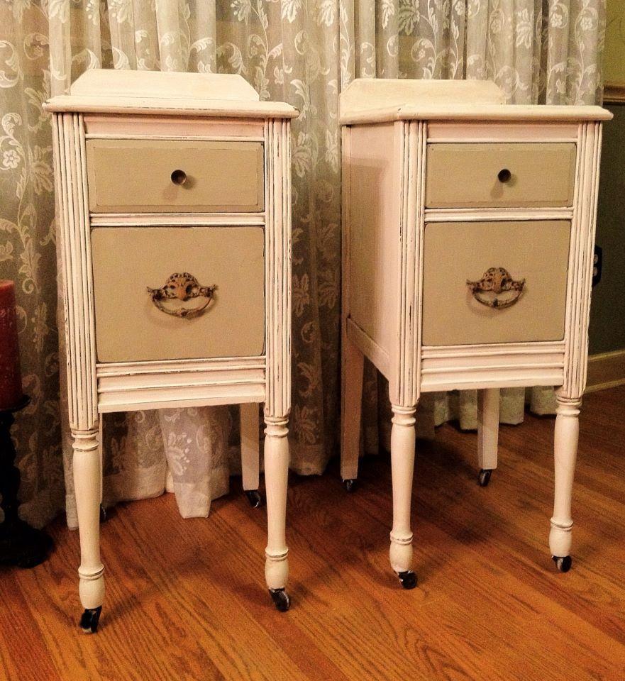 Repurposed vanity made into a pair of nightstands