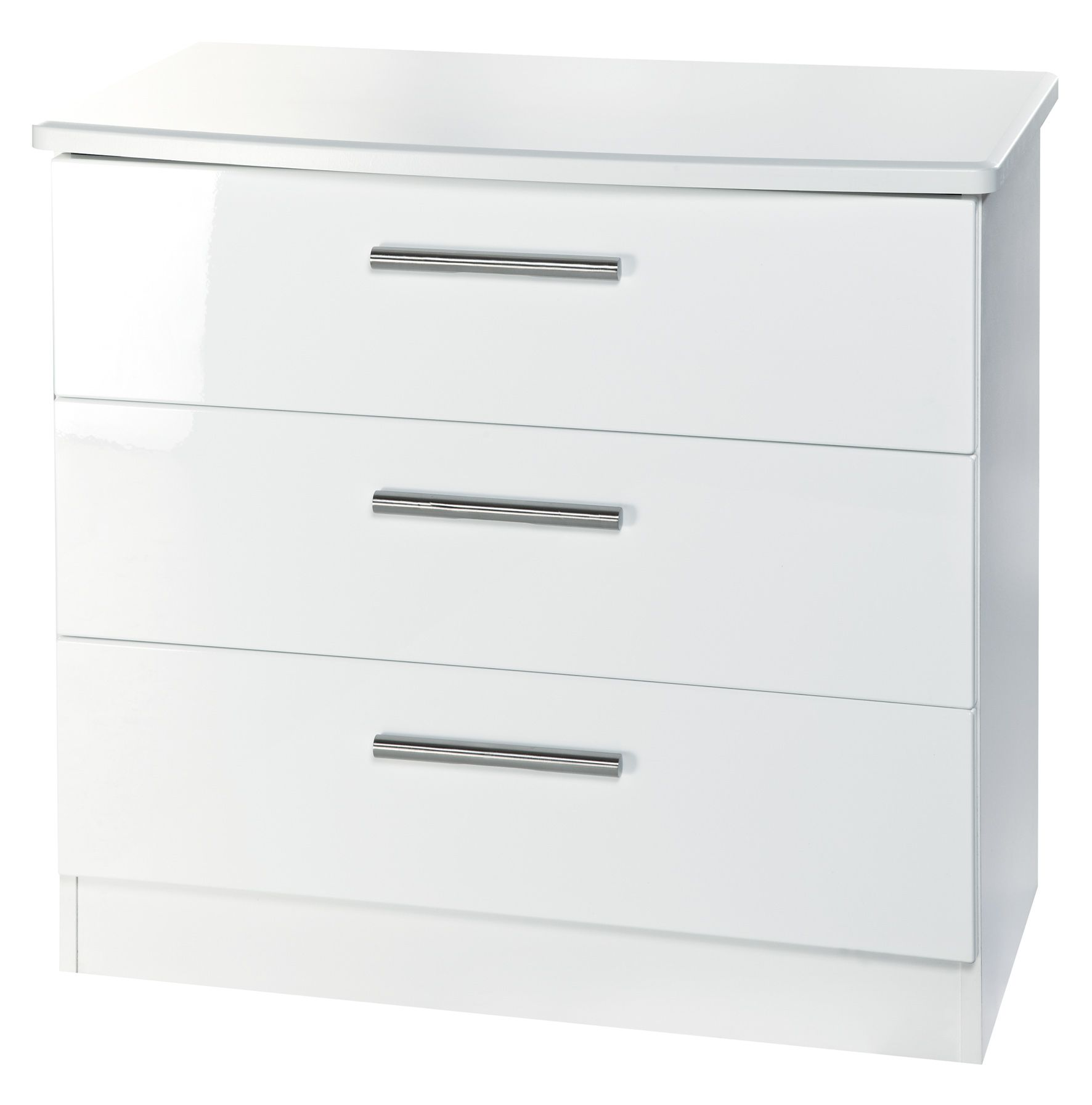 Buy Knightsbridge White High Gloss Chest Of Drawer At Best Stockist Sale Price Shop For Knightsbridge  Drawer Chest From Cfs Store Or Online Free